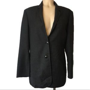 MaxMara Vintage Virgin Wool Charcoal Blazer 10